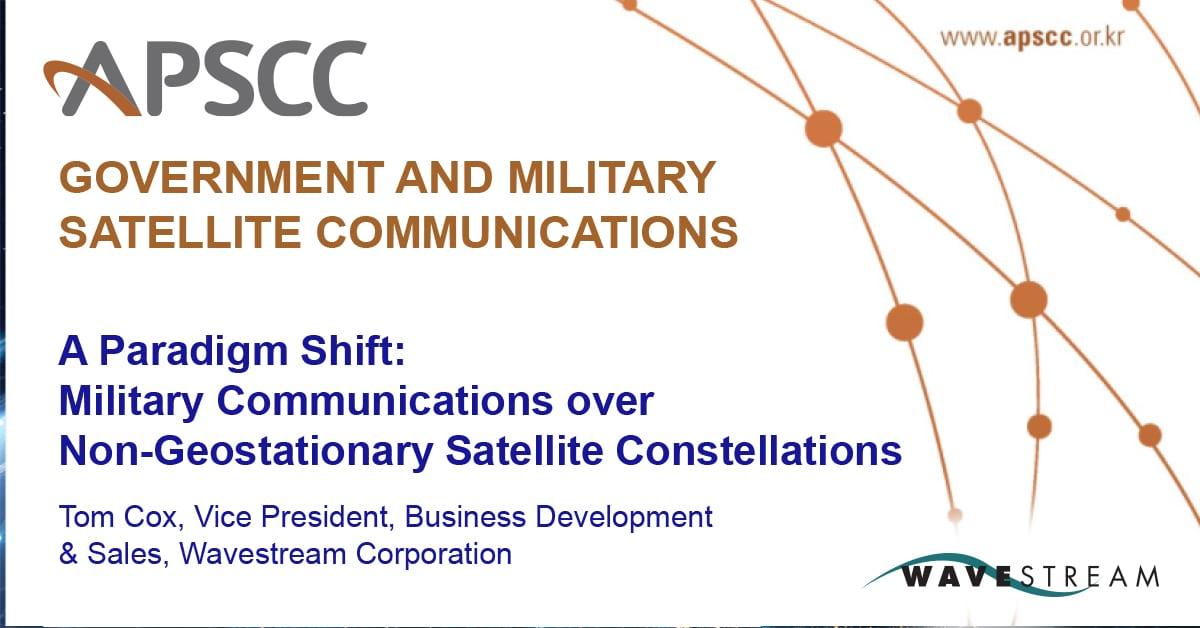 Wavestream VP BD & Sales, Tom Cox in an Interview for APSCC